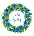 spring frame floral wreath vector image vector image