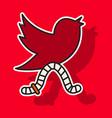 Sticker unusual look tweet bird logotwitter icon