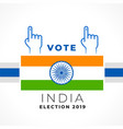 stylish vote india banner design vector image vector image