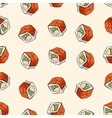 Sushi seamless pattern vector image vector image