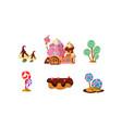 sweet candy land cute cartoon elements fantasy vector image vector image