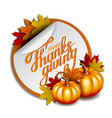 thanksgiving banner hand drawn happy vector image
