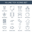 toy icons vector image vector image