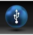 usb icon file compartment hardware symbol vector image