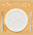 Vintage card - the restaurant menu vector image vector image