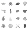 War icons set black monochrome style vector image vector image