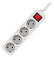 white plug for wall outlet vector image
