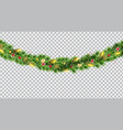 wide christmas border garland fromf fir branches vector image