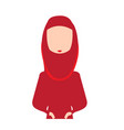 woman avatar with hijab vector image