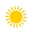 yellow sun icon and symbol vector image