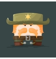 Wild west Cartoon sheriff with mustaches and hat vector image