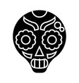 catrina icon black sign on vector image