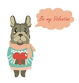 Cute dog wants to be a Valentine vector image