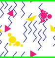 pop art zigzag pattern vector image