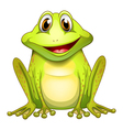 A smiling frog vector image vector image