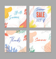 abstract square art templates vector image vector image