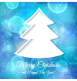 Abstract tree with Christmas and New Year vector image vector image