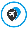 Airport Map Markers Rounded Icon vector image