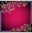 background image with precious stones vector image vector image