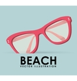 beach icon vector image vector image
