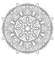 black and white mandala vector image vector image