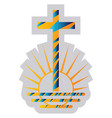 blue and yellow symbol a new apostolic vector image vector image