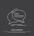 bubble chat communication speech talk icon line vector image