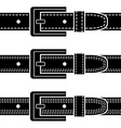 buckle quilted belt black symbols vector image vector image