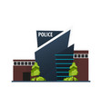 city police station department modern building in vector image