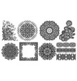 collection of seamless decorative ethnic vector image