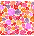 Colorful rose seamless pattern vector image vector image
