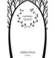 cover from silhouettes of trees vector image vector image