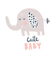 cute baelephant vector image vector image