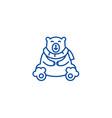 cute polar bear line icon concept cute polar bear vector image