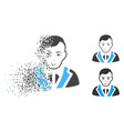 decomposed dot halftone noble gentleman icon with vector image vector image
