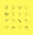 design elements linear icon set simple outline vector image vector image
