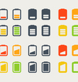 Different accumulator icons vector image vector image
