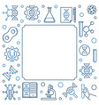 dna test concept square frame in outline vector image