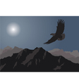 eagle flying over mountains vector image