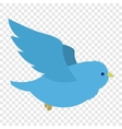 Flying blue bird vector image vector image