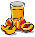 fresh peaches juice vector image vector image