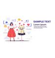 girl choosing new dress woman customer using vector image