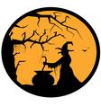 halloween button vector image vector image