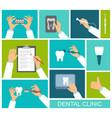 hands dentist vector image