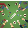 home game gambling friendly tournament three vector image