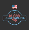 independence day banner with american flag vector image vector image