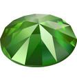 isolated green demantoid vector image