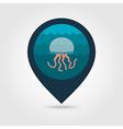 Jellyfish pin map icon Summer Vacation vector image vector image
