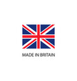 made in britain sign vector image vector image