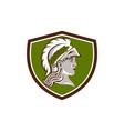 Minerva Head Crest Retro vector image